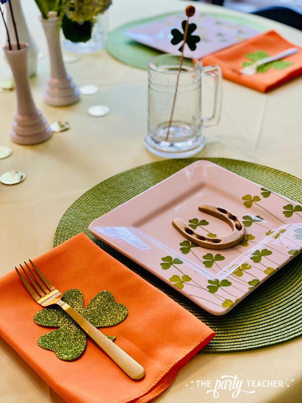 St. Patrick's Day Table by The Party Teacher - place settings