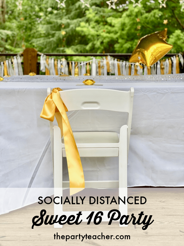 Socially distanced sweet 16 party by The Party Teacher 2