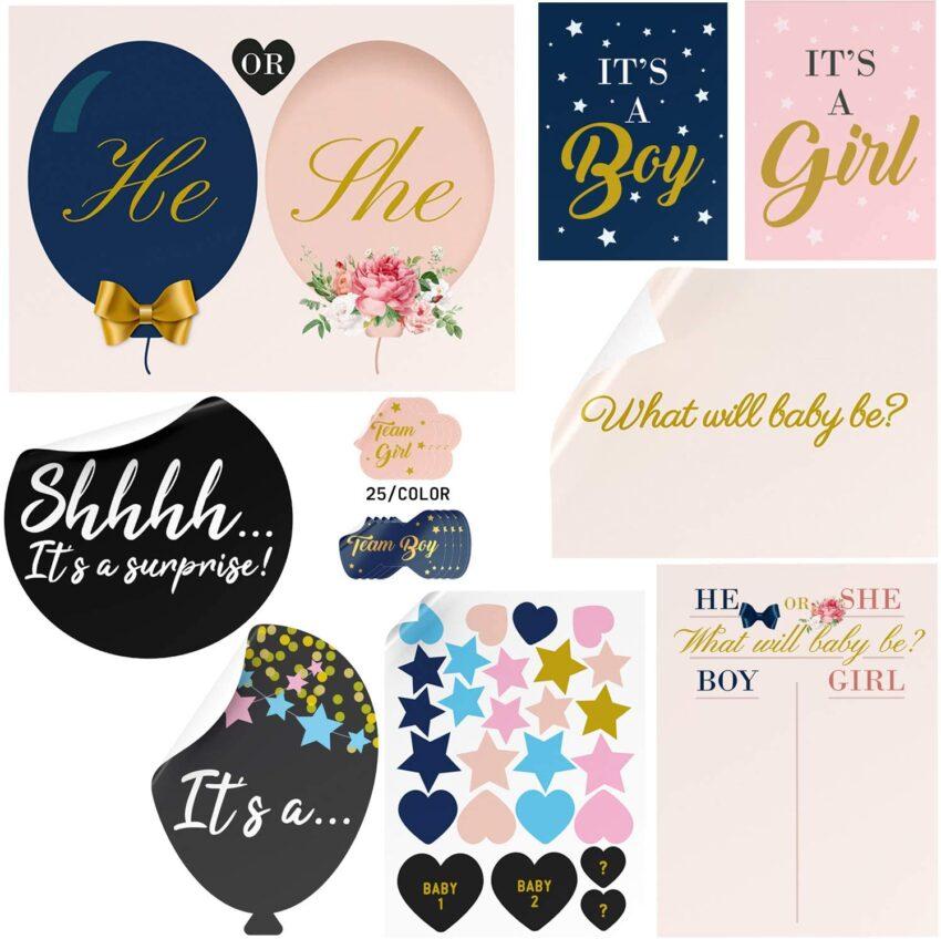 Gender Reveal Sticker Kit