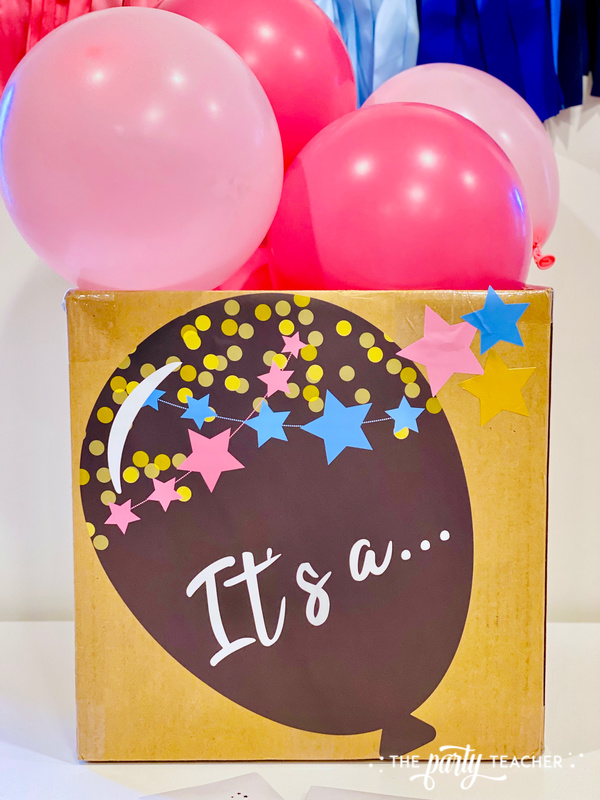 Gender reveal sticker kit - review by The Party Teacher - 2