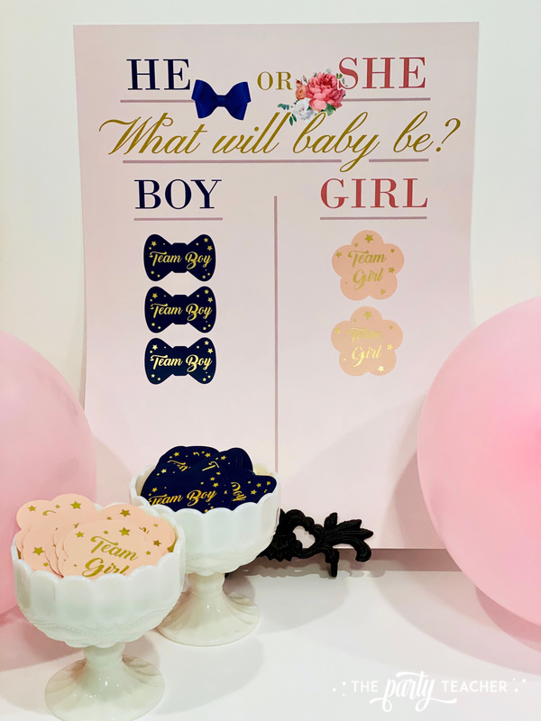 Gender reveal sticker kit - review by The Party Teacher - 4