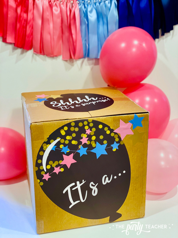 Gender reveal sticker kit - review by The Party Teacher - 6
