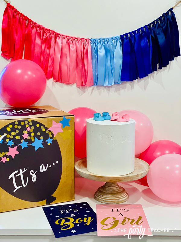 Gender reveal sticker kit - review by The Party Teacher - 8