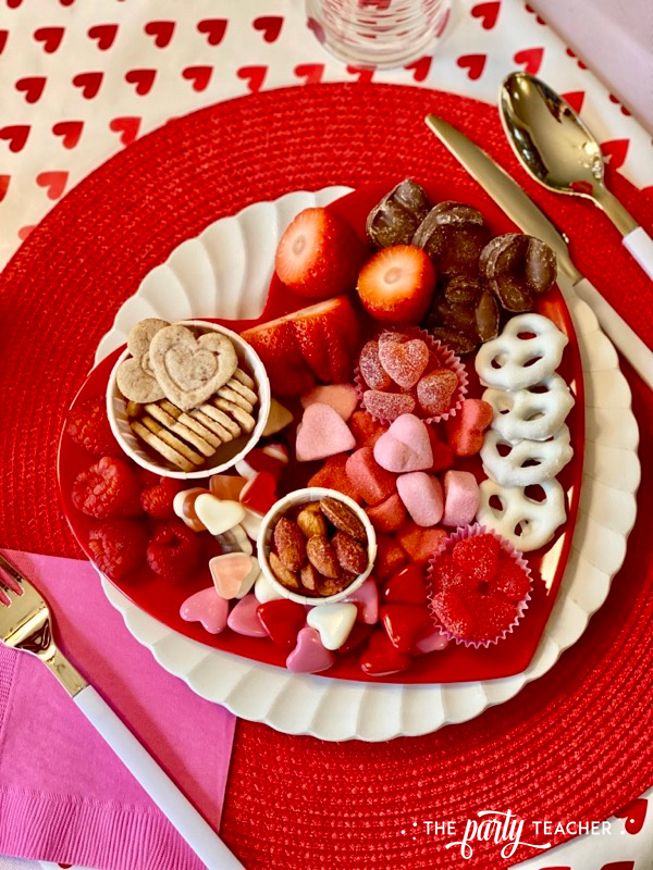 Valentine's candy board overhead - The Party Teacher - 1