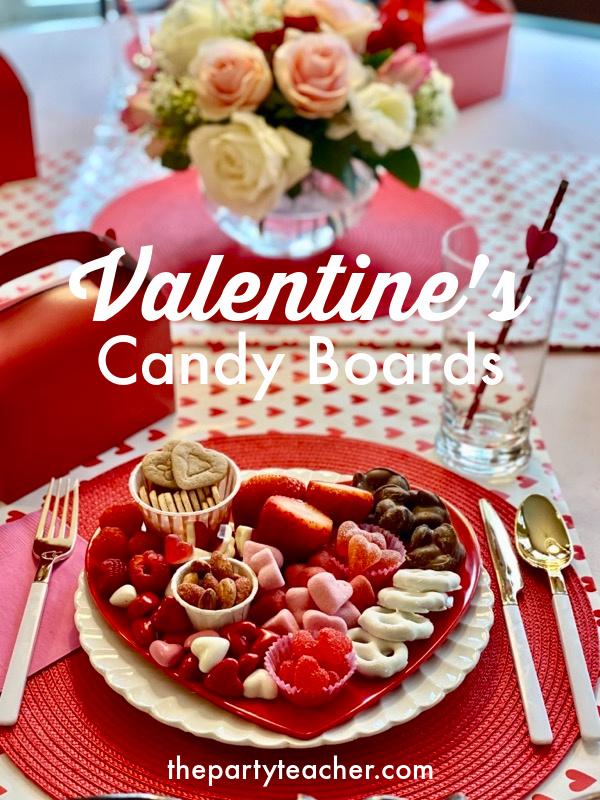 Valentine's candy boards by The Party Teacher
