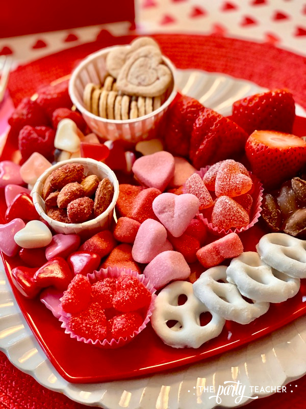 Valentine's candy on heart plate close up - The Party Teacher - 2