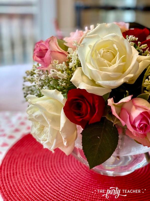 Valentine's rose centerpiece - The Party Teacher - 2