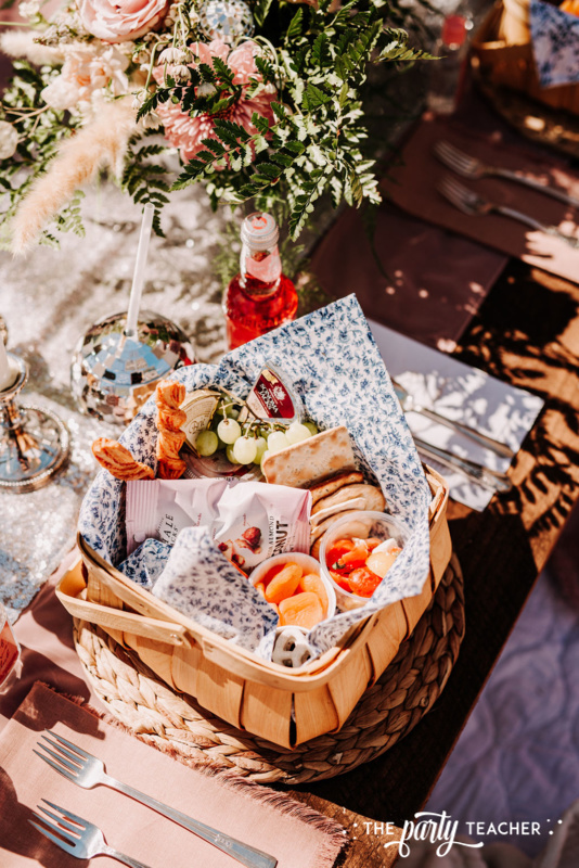 Boho Picnic Sweet 16 by The Party Teacher - 201 grazing boxes