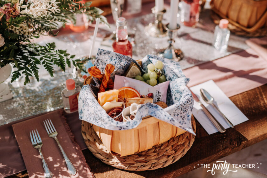 Boho Picnic Sweet 16 by The Party Teacher - 33 - grazing basket