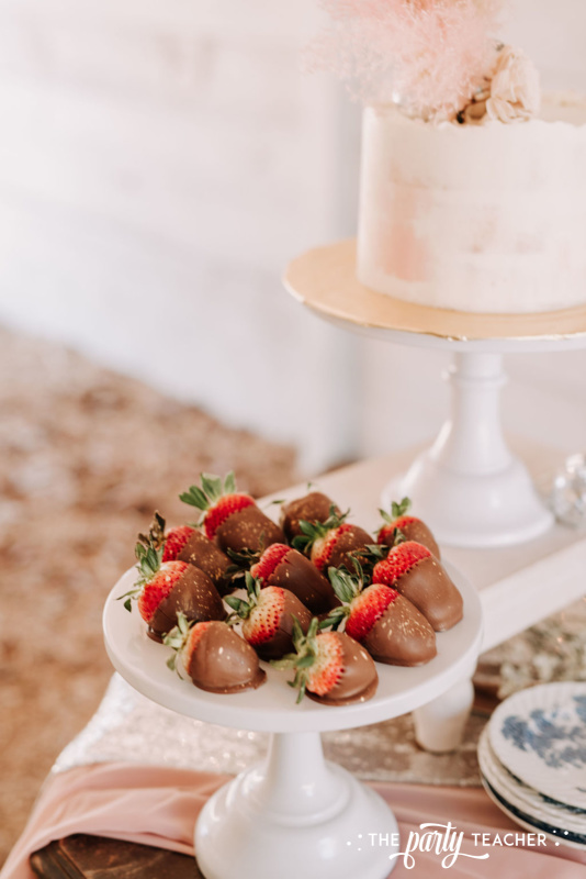 Boho Picnic Sweet 16 by The Party Teacher - 40 chocolate covered strawberries