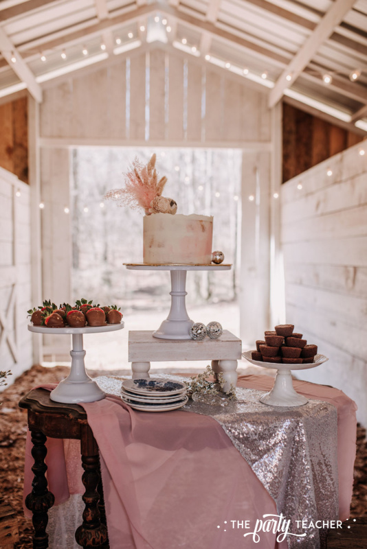 Boho Picnic Sweet 16 by The Party Teacher - 41 dessert table
