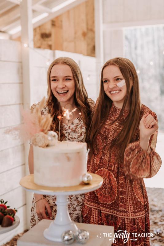 Boho Picnic Sweet 16 by The Party Teacher - 44 birthday girls cake