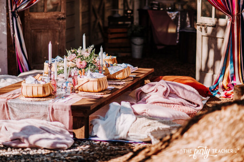 Boho Picnic Sweet 16 by The Party Teacher - 297-picnic table