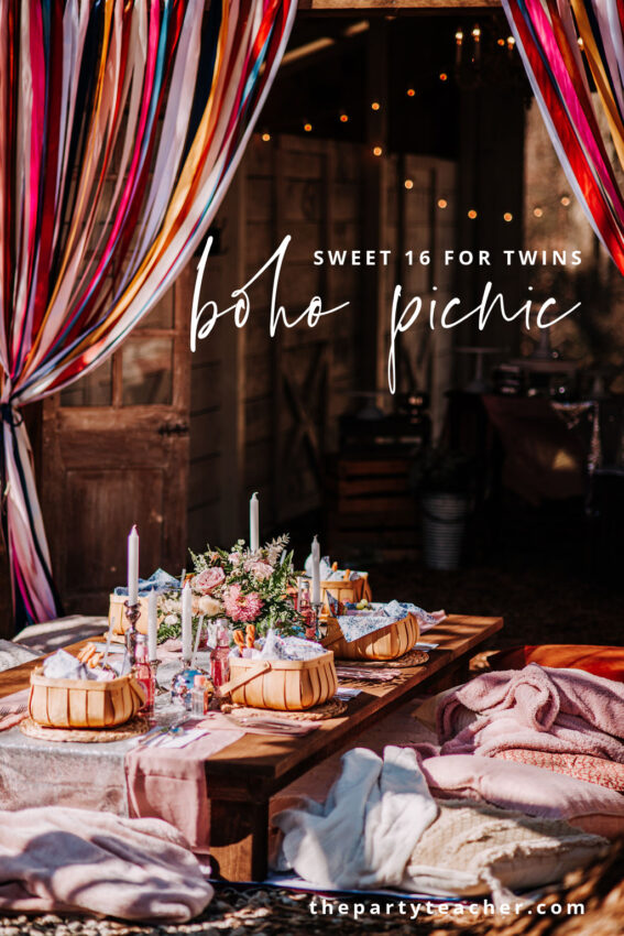 Boho Picnic Sweet 16 for Twins by The Party Teacher